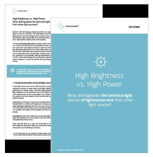 High Brightness vs. High Power